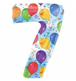 XXL balon številka 7, pisan