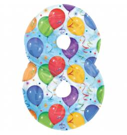 XXL balon številka 8, pisan