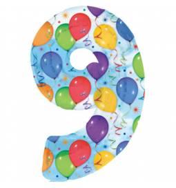 XXL  balon številka 9, pisan
