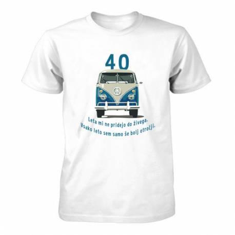 Majica za 40 let, Moder Vw kombi