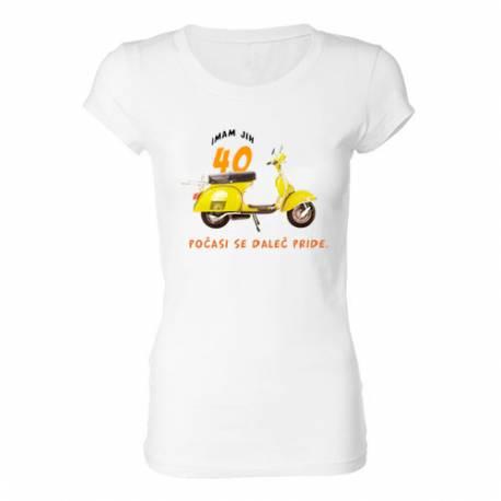 Ženska majica za 40 let, Vespa