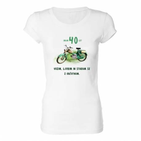 Ženska majica za 40 let, Motor