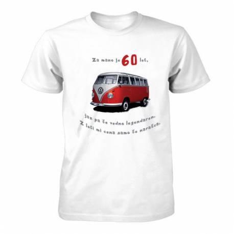 Majica za 60 let, Rdeč Vw kombi