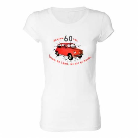 Ženska majica za 60 let, Rdeč fičo