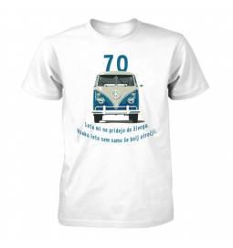 Majica za 70 let, Moder Vw kombi