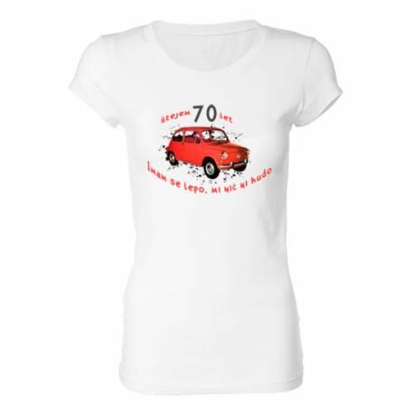 Ženska majica za 70 let, Rdeč fičo