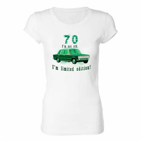 Ženska majica za 70 let, Omejena izdaja