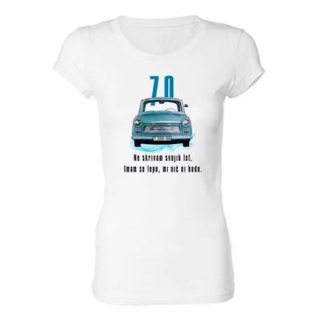 Ženska majica za 70 let, Trabant