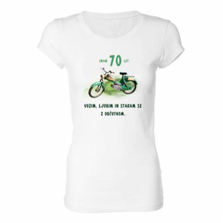 Ženska majica za 70 let, Motor