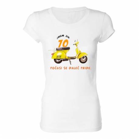 Ženska majica za 70 let, Vespa