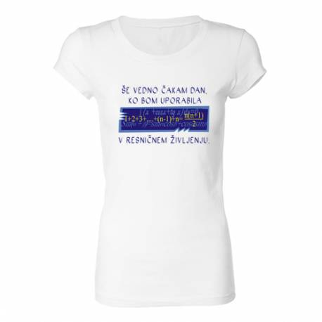 Ženska majica Prava enačba