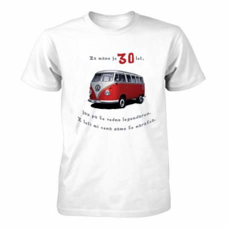 Majica za 30 let, Rdeč Vw kombi