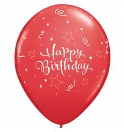 Baloni za rojstni dan, Birthday rdeči, 10/1