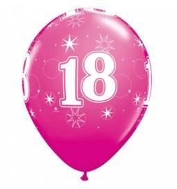 Pink Sparkle baloni za 18 rojstni dan, 10/1