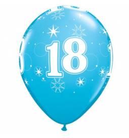 Blue Sparkle baloni za 18 rojstni dan, 10/1