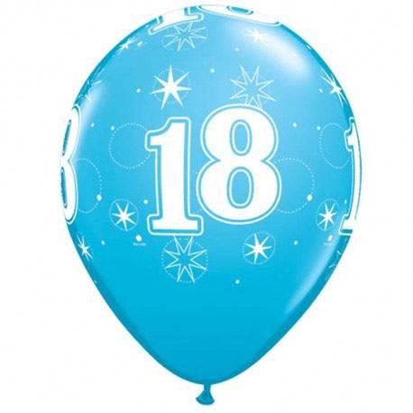 Blue Sparkle baloni za 18 rojstni dan, 25/1