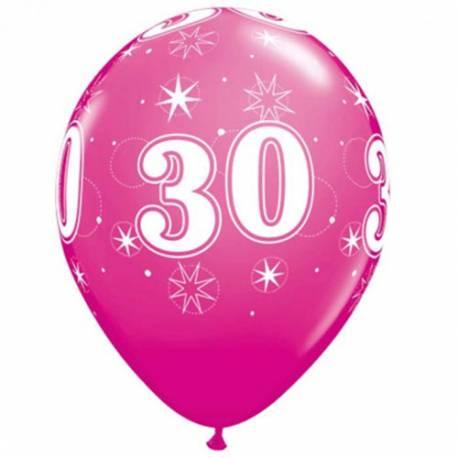 Sparkle Pink baloni za 30 rojstni dan, 10/1