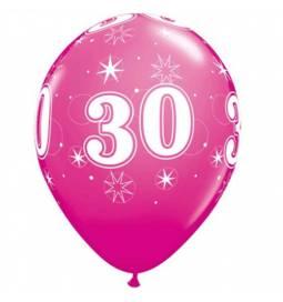 Sparkle Pink baloni za 30 rojstni dan, 25/1