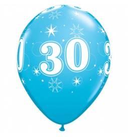 Sparkle Blue baloni za 30 rojstni dan, 25/1