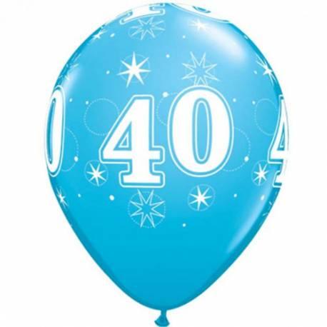 Sparkle Blue baloni za 40 rojstni dan, 10/1