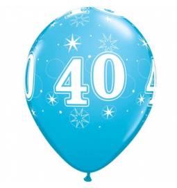 Sparkle Blue baloni za 40 rojstni dan, 25/1