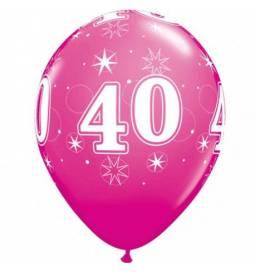 Sparkle Wild Berry baloni za 40 rojstni dan, 10/1