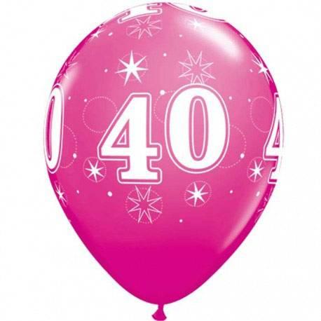 Sparkle Wild Berry baloni za 40 rojstni dan, 25/1