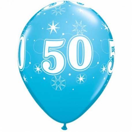 Sparkle Blue baloni za 50 rojstni dan, 25/1