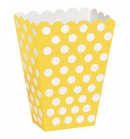 Škatla za sladkarije, rumena s pikami