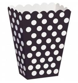 Škatla za sladkarije, črna s pikami