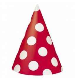 Rdeči klobučki z belimi pikami