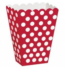 Škatla za sladkarije, rdeča s pikami