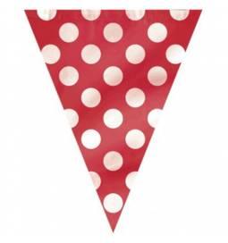 Rdeče zastavice z belimi pikami