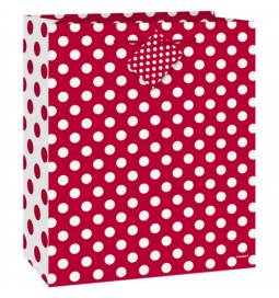Darilna vrečka, Rdeča s pikami