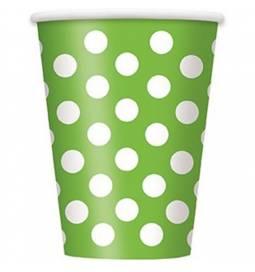 Kozarčki 355 ml, zeleni s pikami 6/1