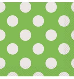 Serviete 25x25 cm, Zelene s pikami