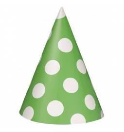 Zeleni klobučki z belimi pikami