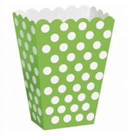 Škatla za sladkarije, zelena s pikami