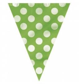 Zelene zastavice z belimi pikami