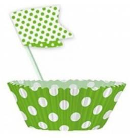 Set za muffine, zelen s pikami