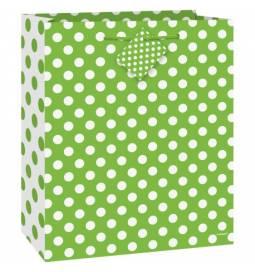 Darilna vrečka, Zelena s pikami