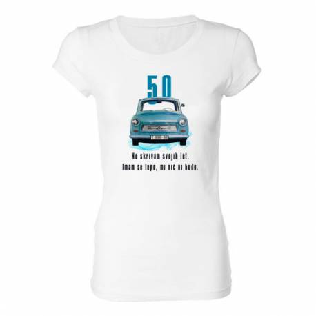 Ženska majica za 50 let, Ne skrivam let