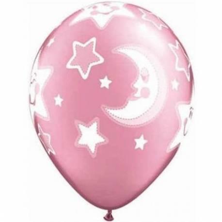 Baloni za rojstvo 25/1, Pink Baby Moon