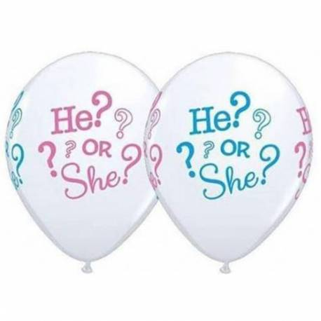 Baloni za rojstvo 10/1, He or She