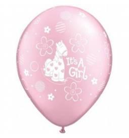 Baloni za rojstvo 25/1, Žirafica pink