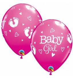 Baloni za rojstvo 10/1, Baby Girl Nogice