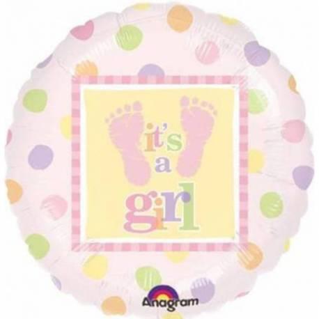 Balon za rojstvo, Its a Girl Nogice