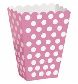 Škatla za sladkarije, pink s pikami