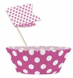 Set za muffine, pink s pikami