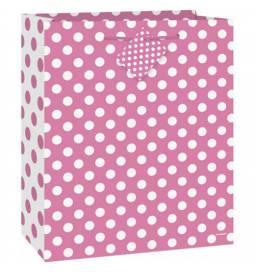 Darilna vrečka, Pink s pikami